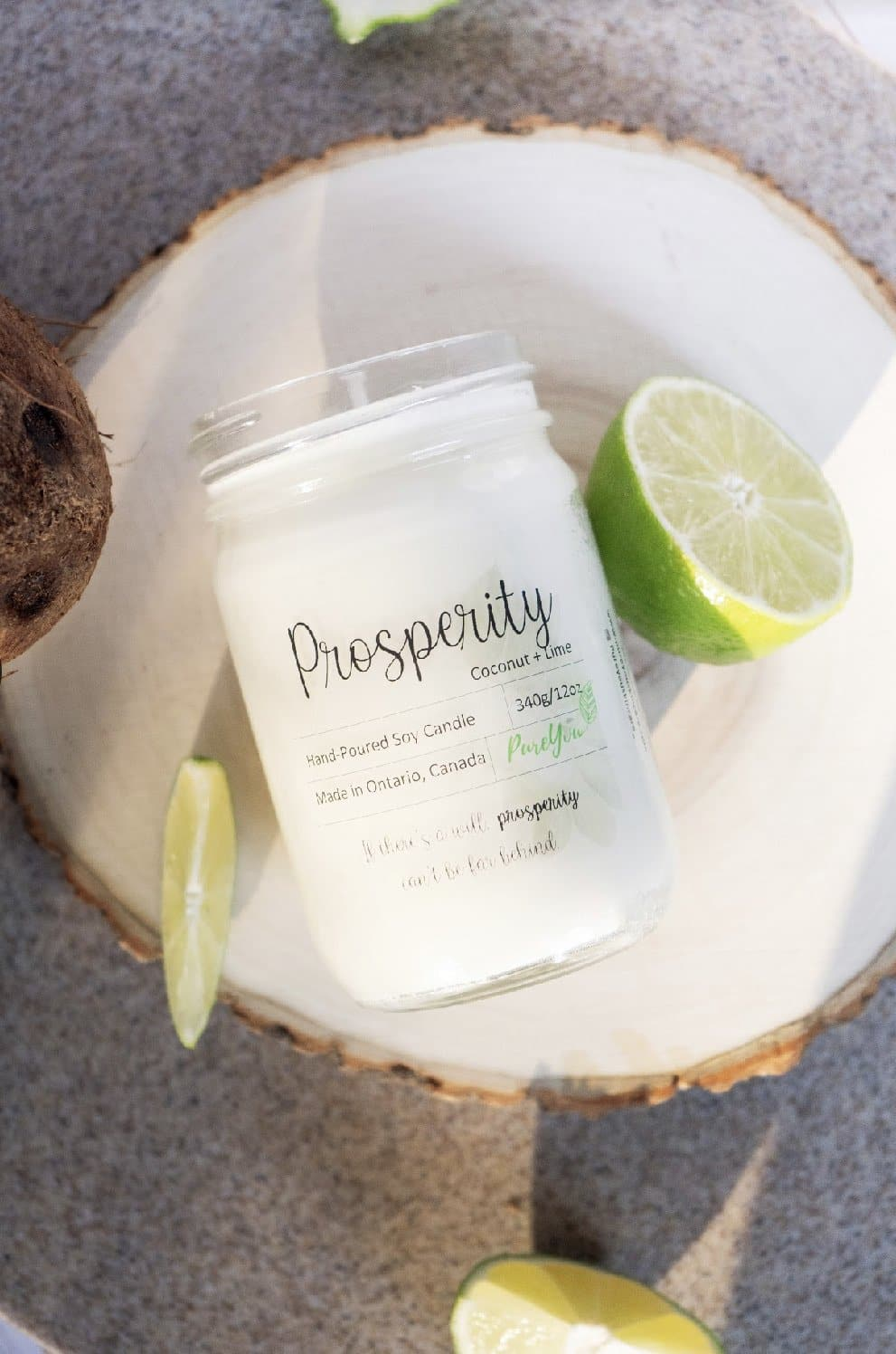 Prosperity Soy Wax Candle (Coconut+Lime)