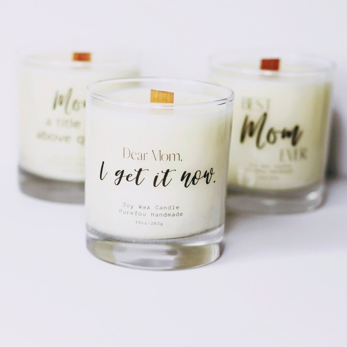 """Dear Mom"" Soy Wax Candle"