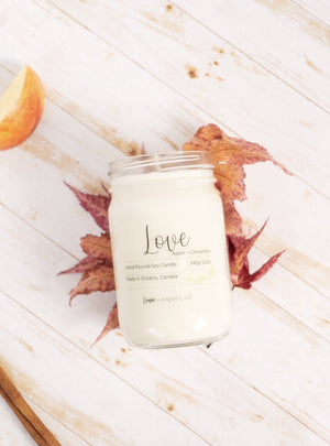 Love Soy Wax Candle (Apple+Cinnamon)