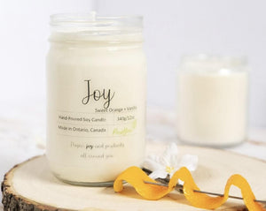 Joy Soy Wax Candle (Sweet Orange +Vanilla)