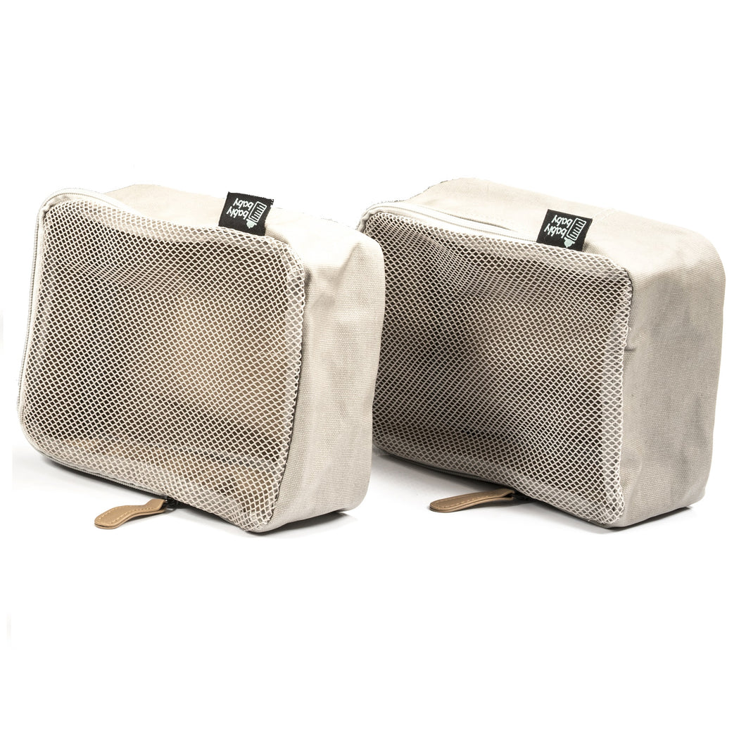 Packing Cubes, Set of Two, Coated Canvas