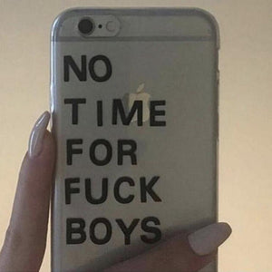 """No Time For F*ckboys"" iPhone Case"