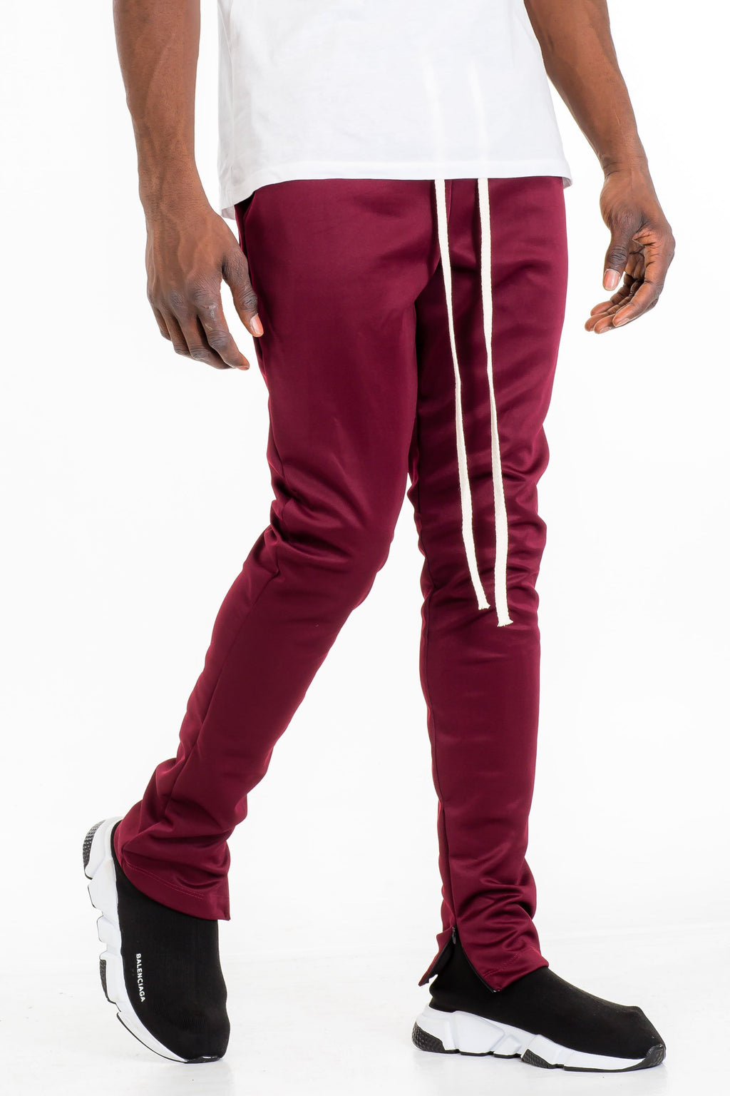 Silent Oxblood Joggers