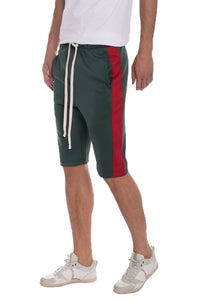 Track Shorts -GREEN/RED