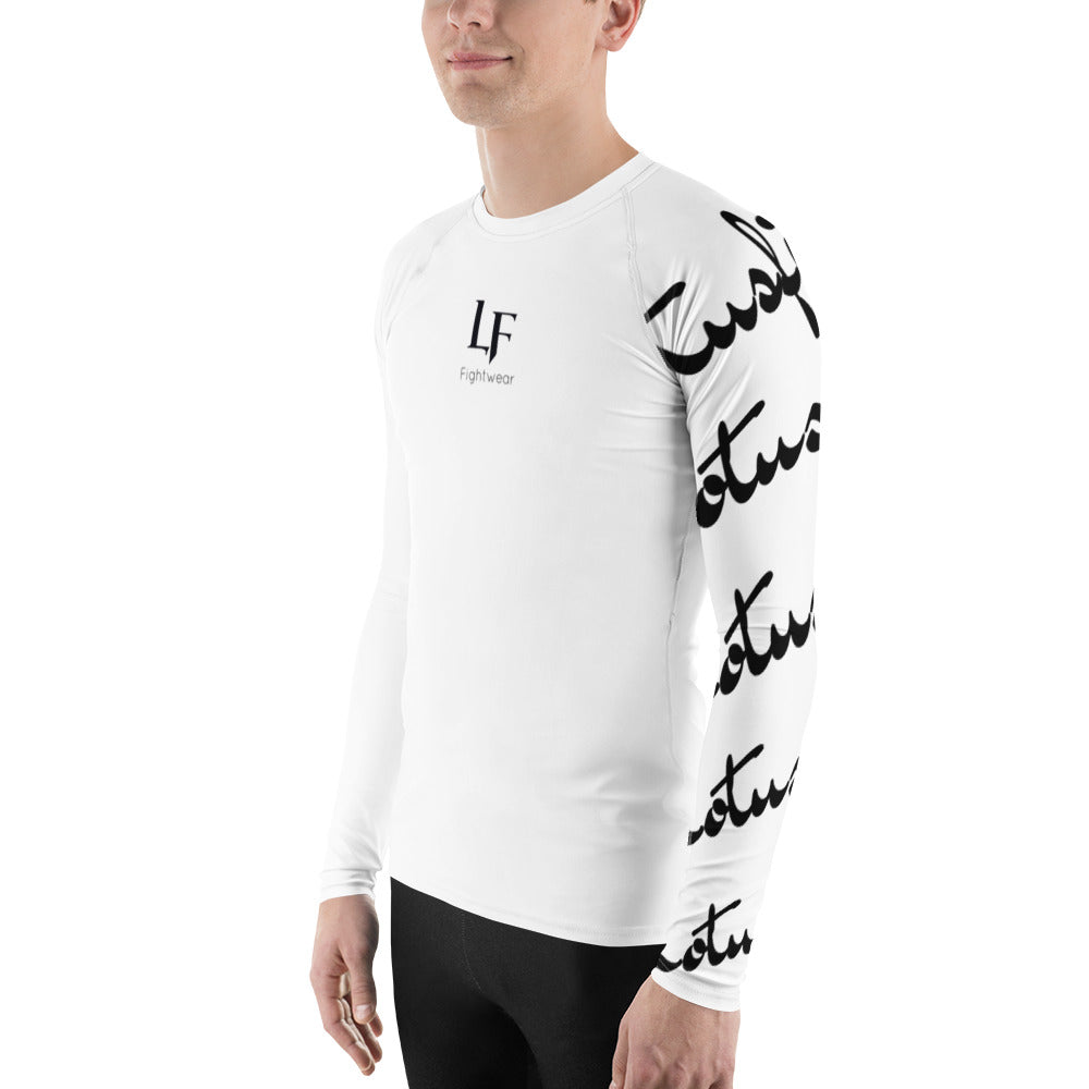 Raw sleeve rashguard (White)