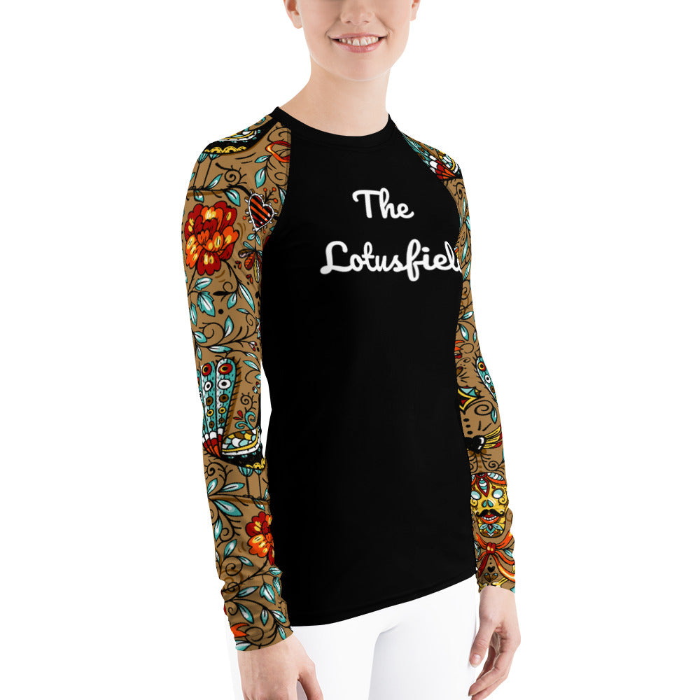 Ladies Peacock Rash Guard