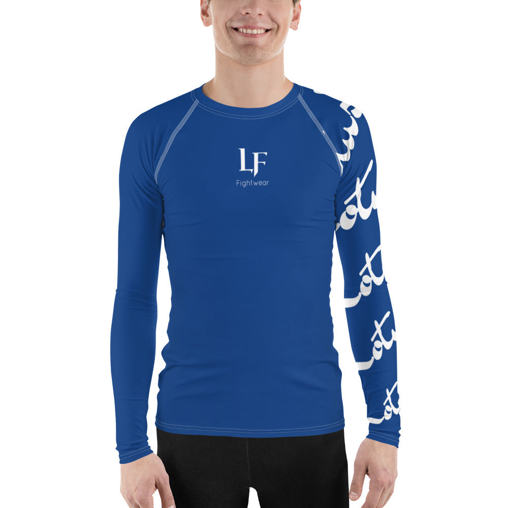 Raw Sleeve Rash Guard (Blue)