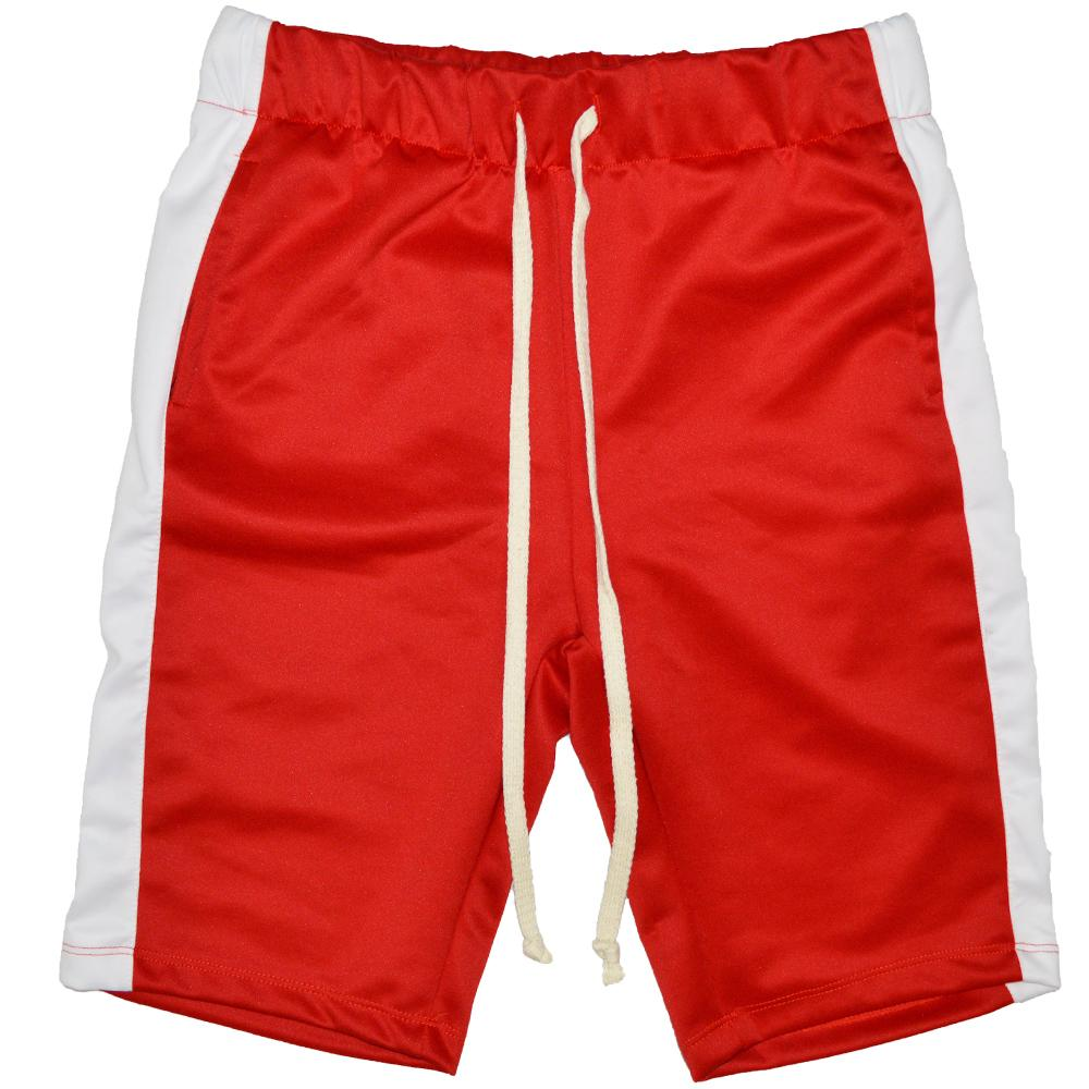 TRACK SHORTS -RED/WHITE
