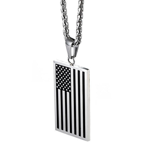 American Flag Patriotic Necklace