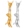 Image of Cute Golden Cat Necklace