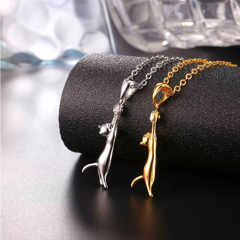 Cute Golden Cat Necklace