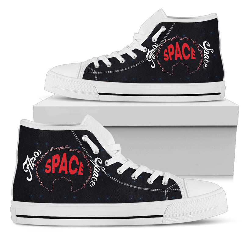 Afro Space Female Logo High Tops - Afro Space