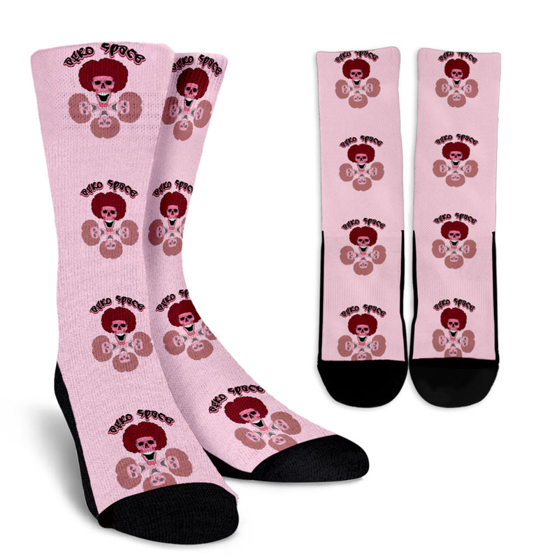 Afro Space Pink Socks - Afro Space