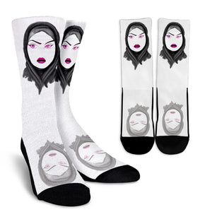 Hijab Crew Socks 2 - Afro Space