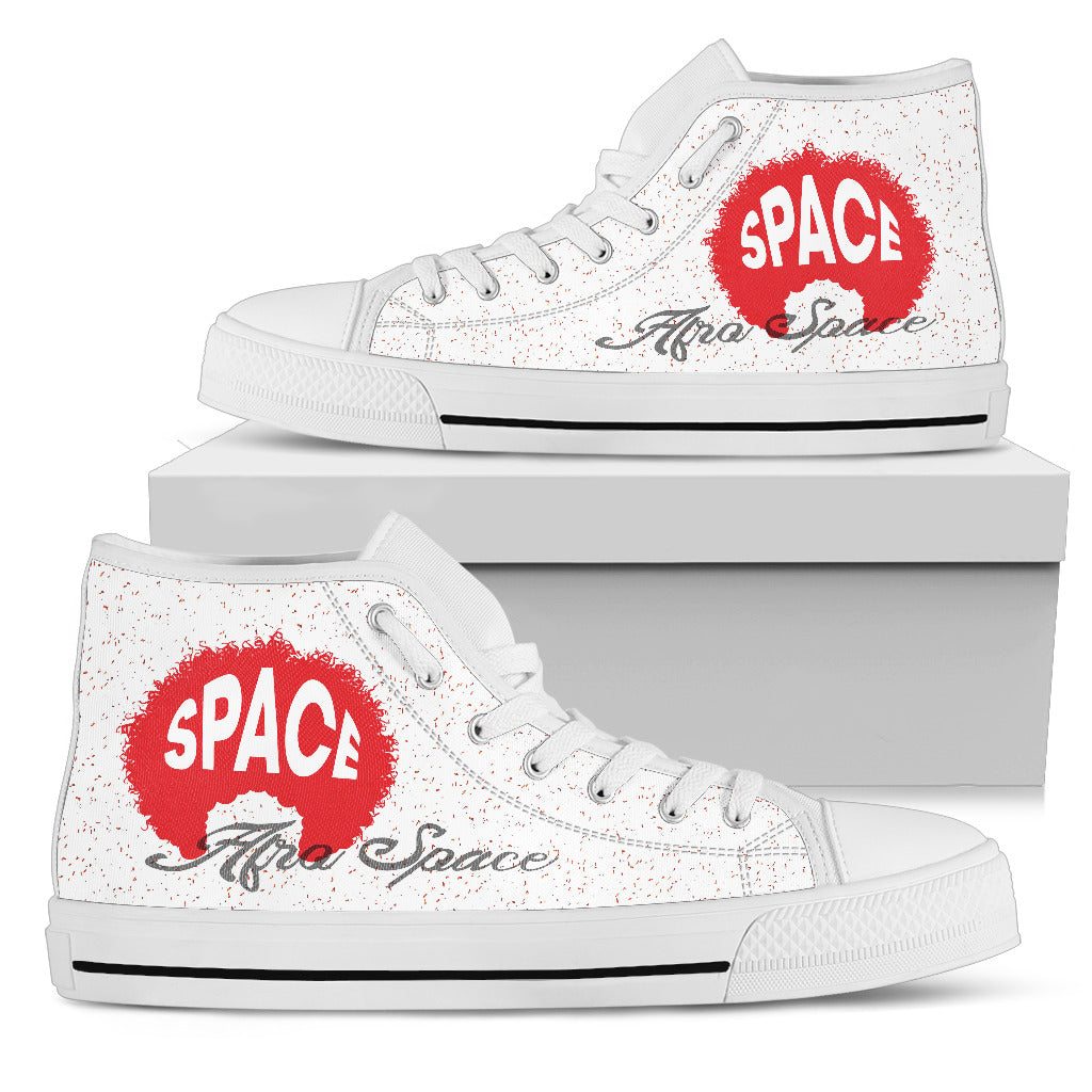 Afro Space Girls Red Logo High Tops 3.0 - Afro Space