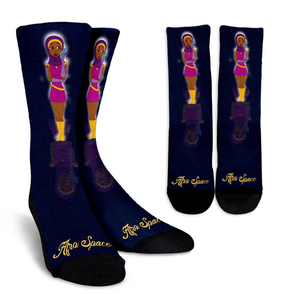 Afro Space Girls Socks - Afro Space
