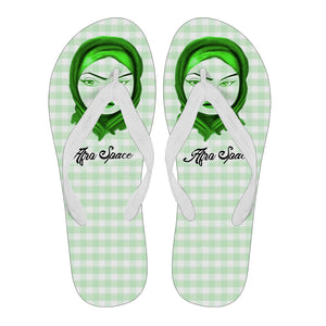 Afro Space Green Flip Flop Hijab 3.0 - Afro Space
