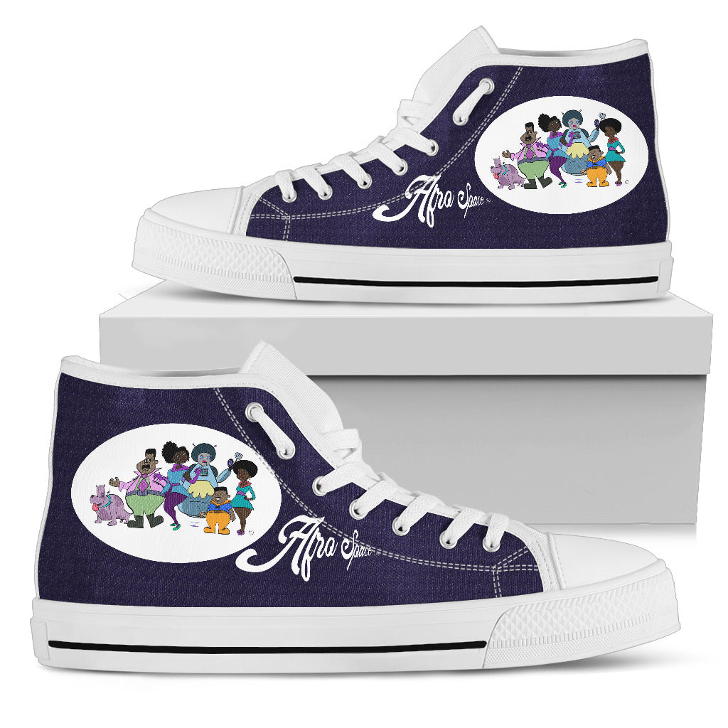 Afro Space Turner Womens High Tops