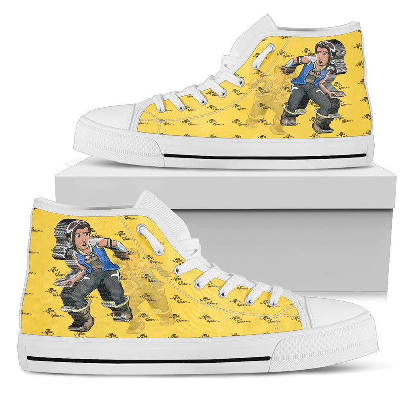 Afro Space Yellow Fever Womens High Top 1.0 - Afro Space
