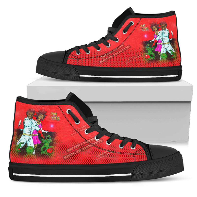 Mens BGB RED High Tops - Afro Space