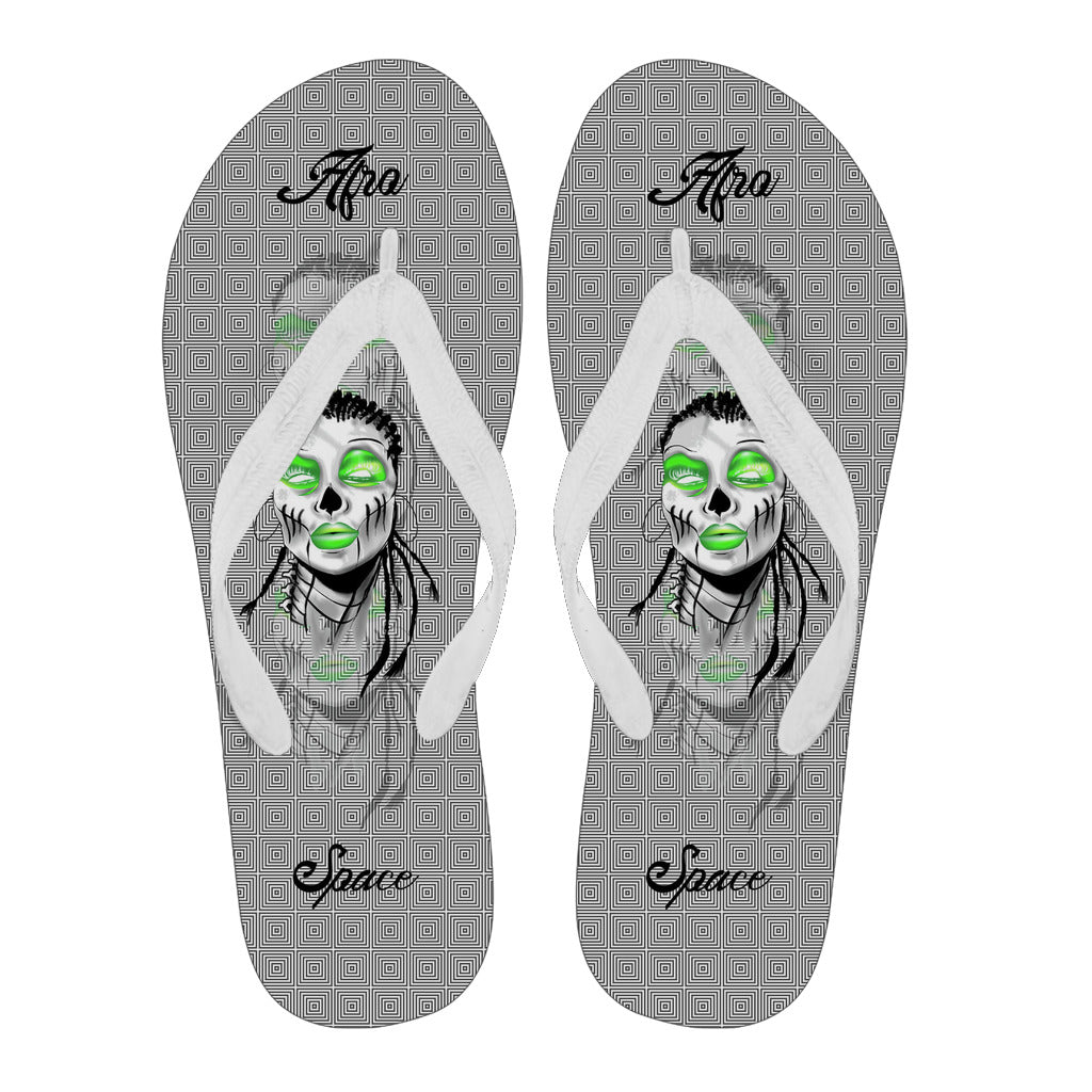 Afro Space Flip Flops Green Gray 3.2 - Afro Space