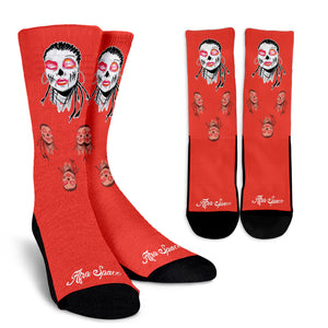 Sista Girl Red Crew Socks - Afro Space