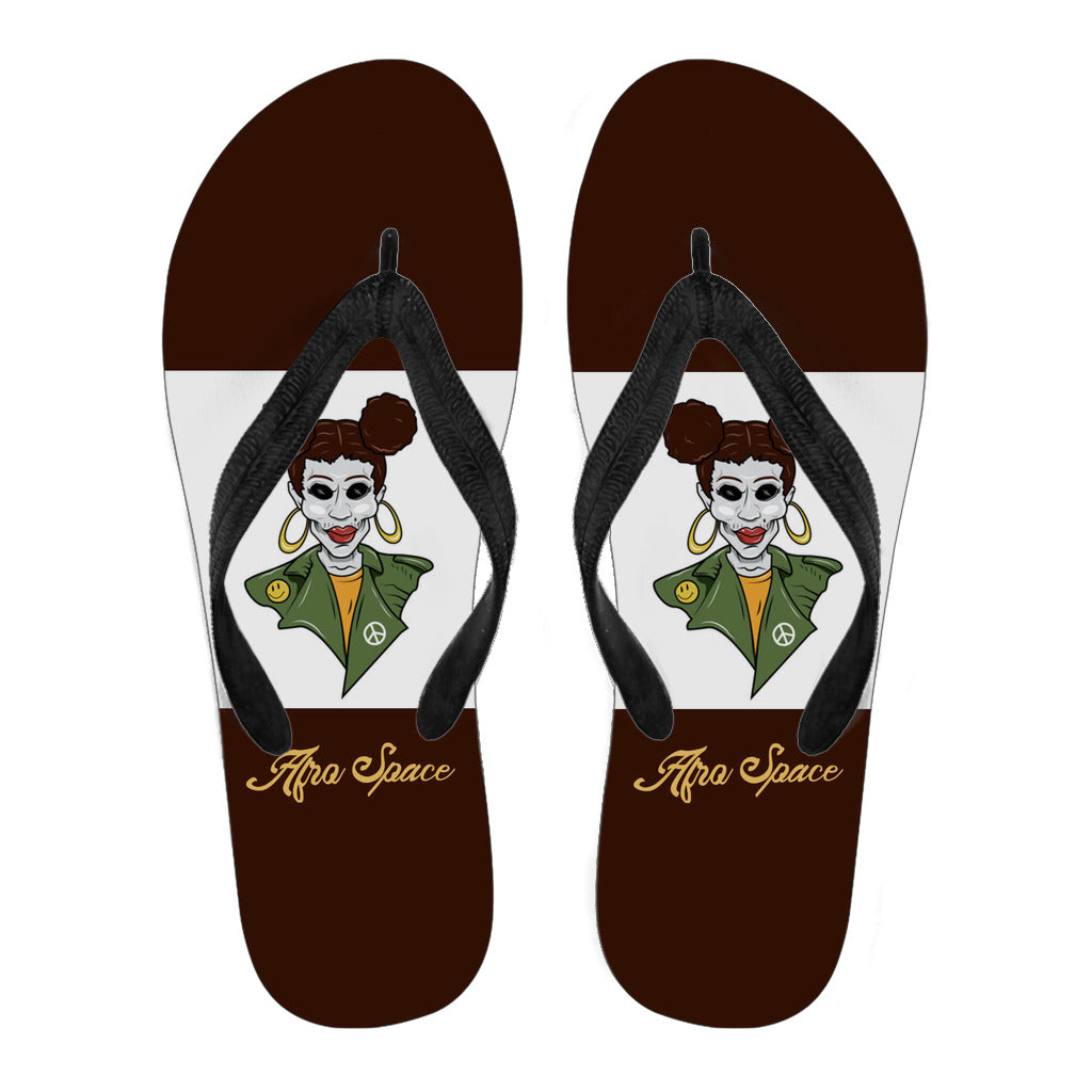 Afro Space Girls Flip Flop Brown Pig Tails 3.0 - Afro Space