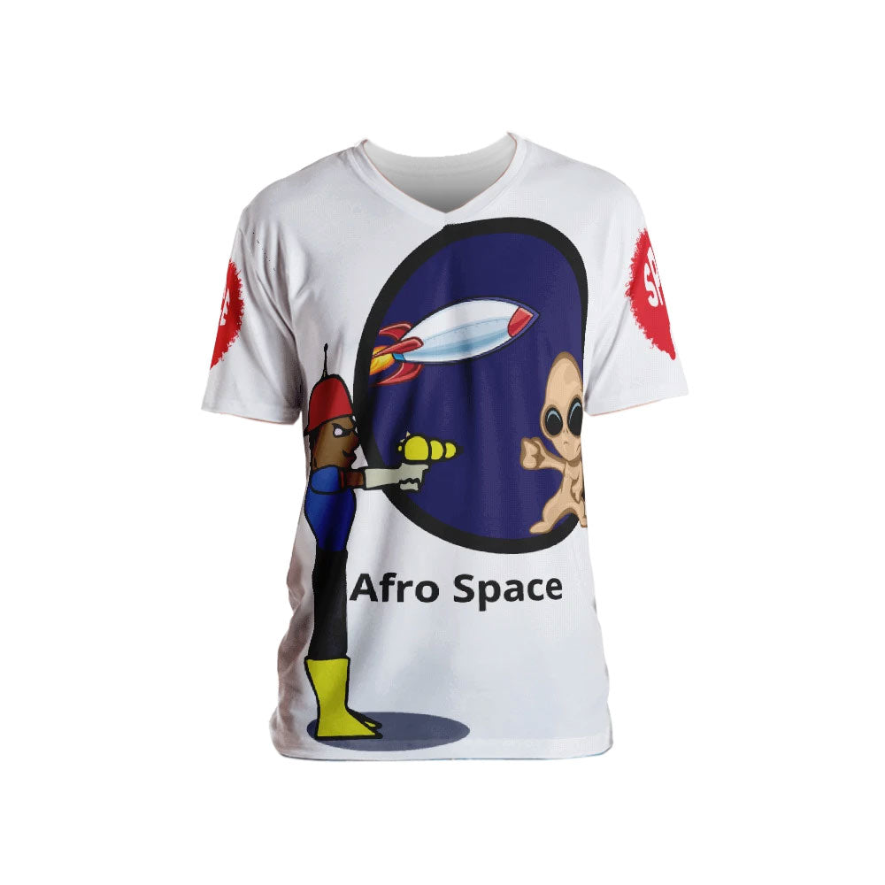 Afro Space Cartoon  Men's T-shirt - Afro Space