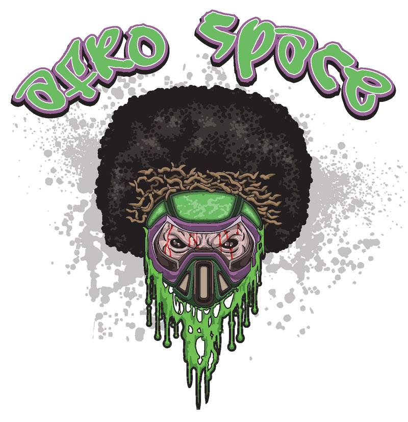Toxic Skull Afro Space Tee shirt - Afro Space