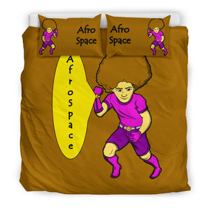 Afro Space Brown Boys Bedding 3.0 - Afro Space