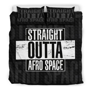 Straight Outta Afro Space Boys Bed sheet - Afro Space