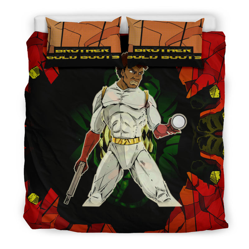 Afro Space Brother Gold Boot Boys Bedding 2.0 - Afro Space