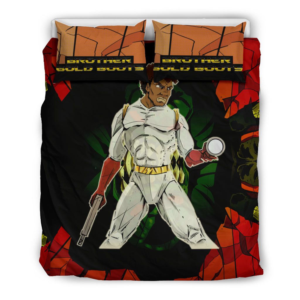 Afro Space Brother Gold Boot Boys Bedding 2.0