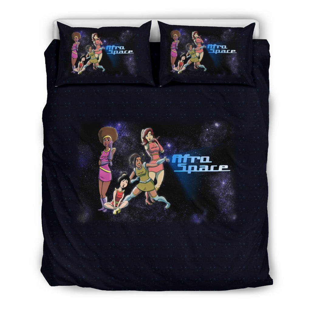 Afro Space Girls Bedding - Afro Space