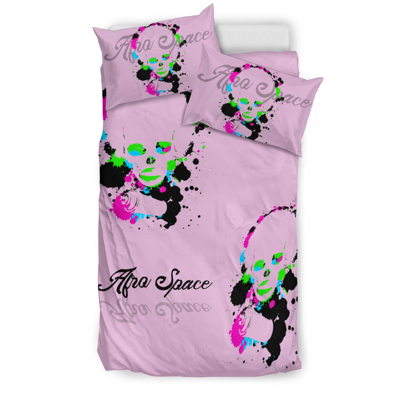 Afro Space Tye Dye Girls Bed Sheets - Afro Space
