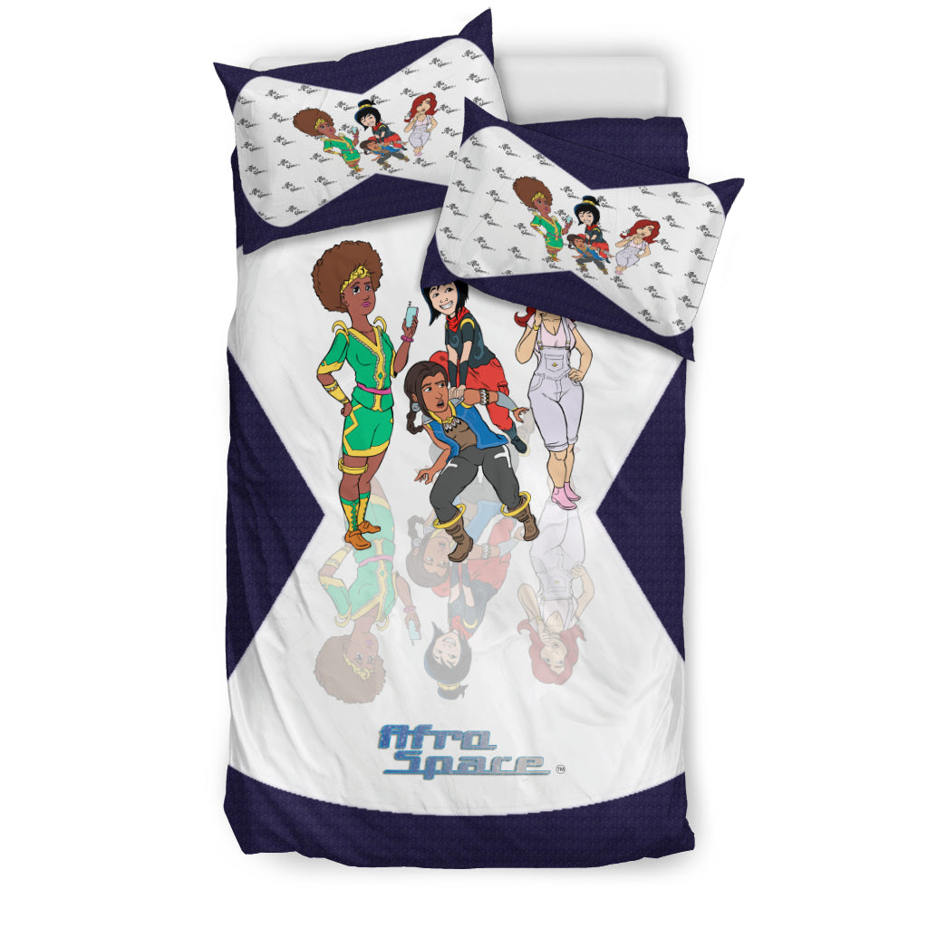 Afro Space Girls Bedding 4.4