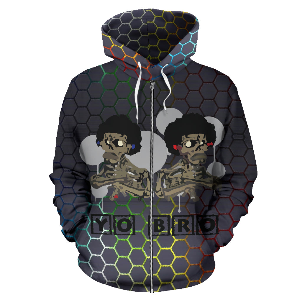 Afro Space Yo Zipper Hoodie - Afro Space