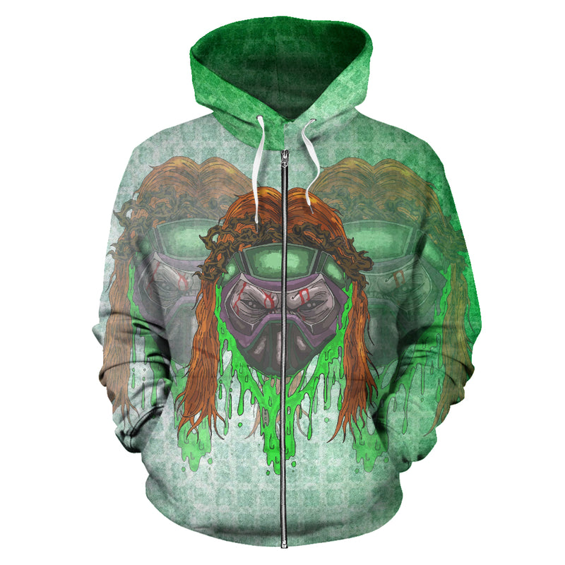 Afro Space Triple Threat Zipper Hoodie - Afro Space