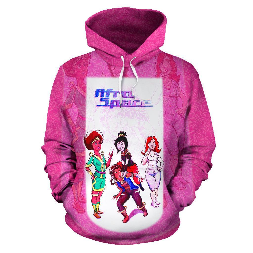 Afro Space Female Pink Hoodie - Afro Space