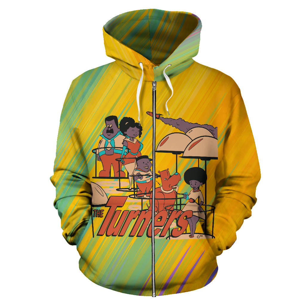 Turners Afro Space Zipper Hoodie - Afro Space