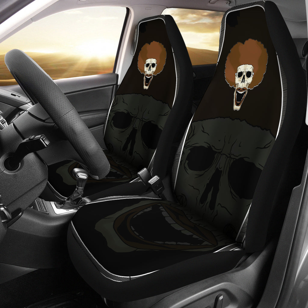 Afro Space Smile Car Seat Cover