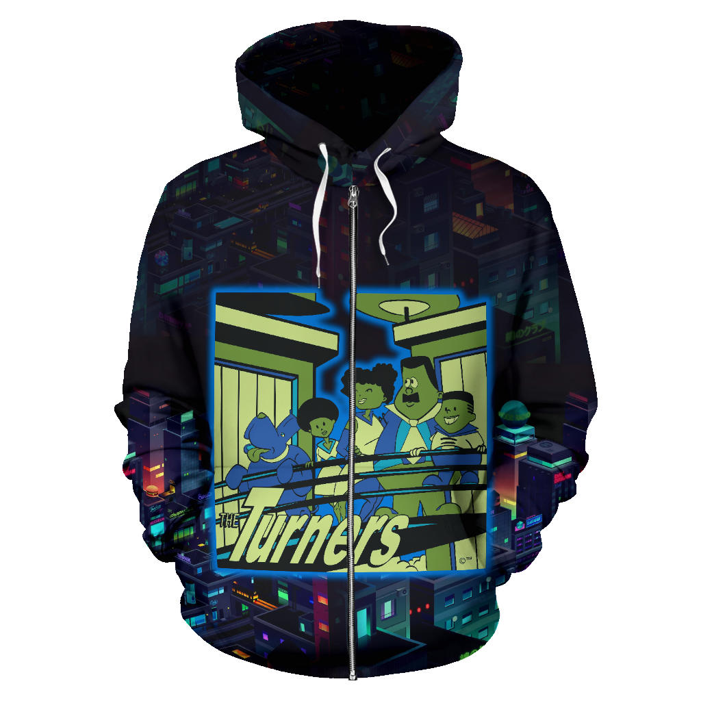 Afro Space Turners Sparkle Zipper Hoodie - Afro Space