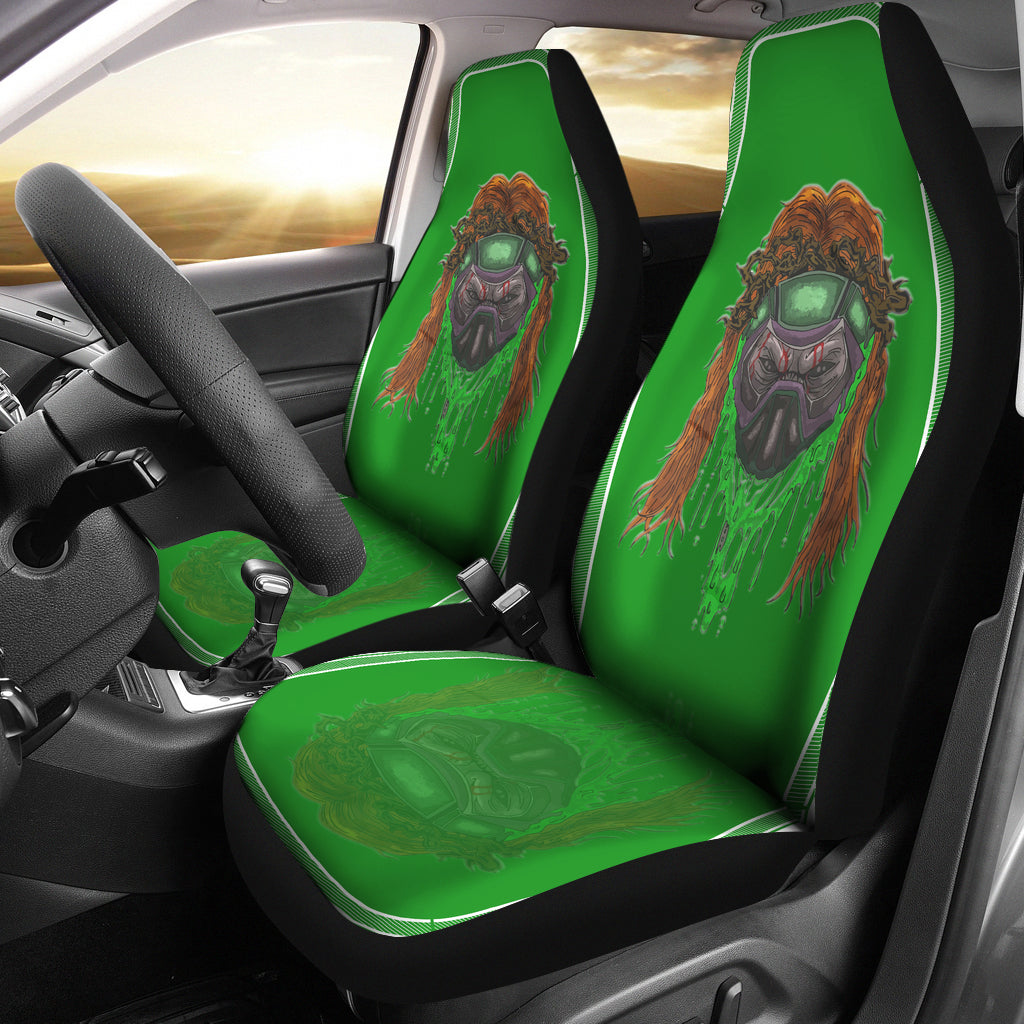 Toxic Skull Car Seat Cover - Afro Space