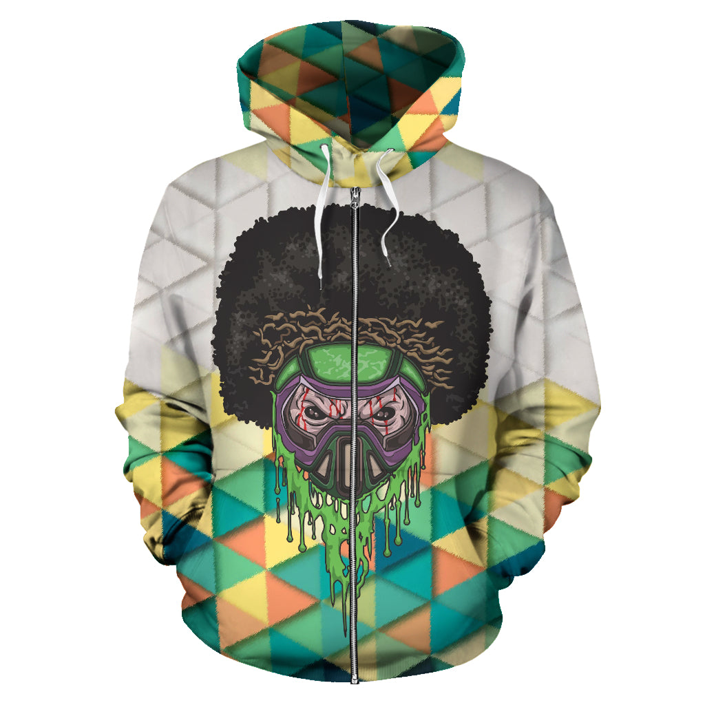 Afro Space Deep Haze Zipper Hoodie - Afro Space