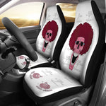 Pink Afro Space Seat Covers
