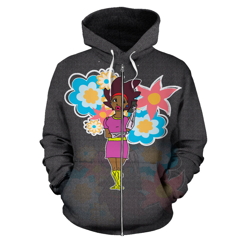 Afro Space Female  Hoodie - Afro Space