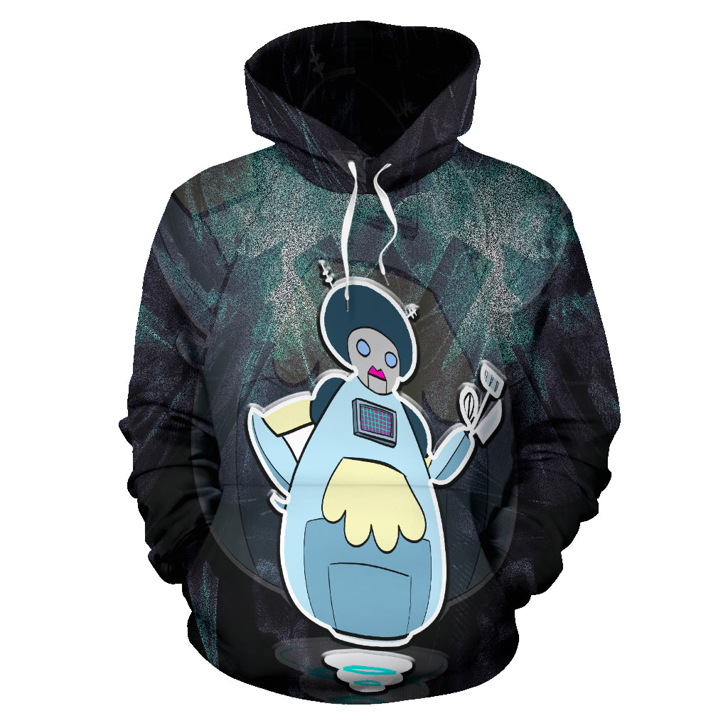 Afro Space Turners Maid Hoodie