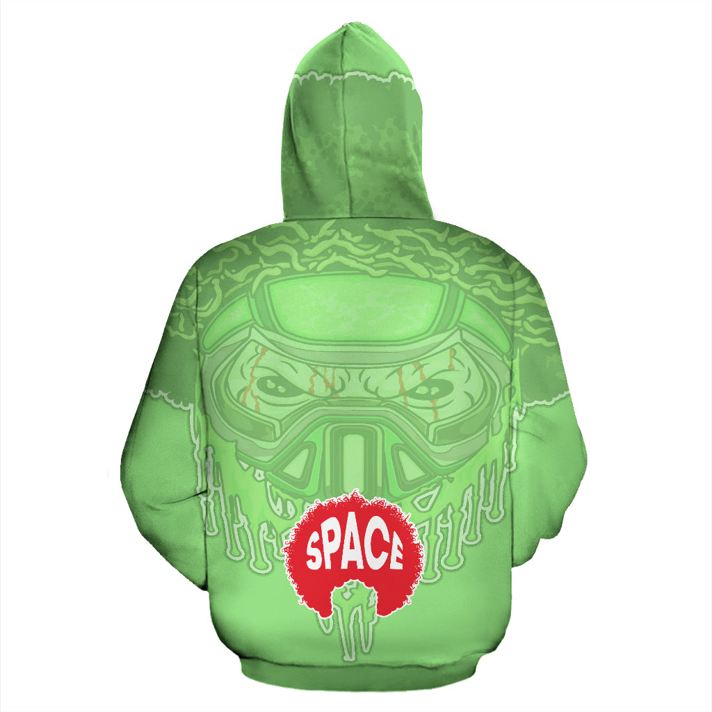 Afro Toxic Skull Hoodie - Afro Space