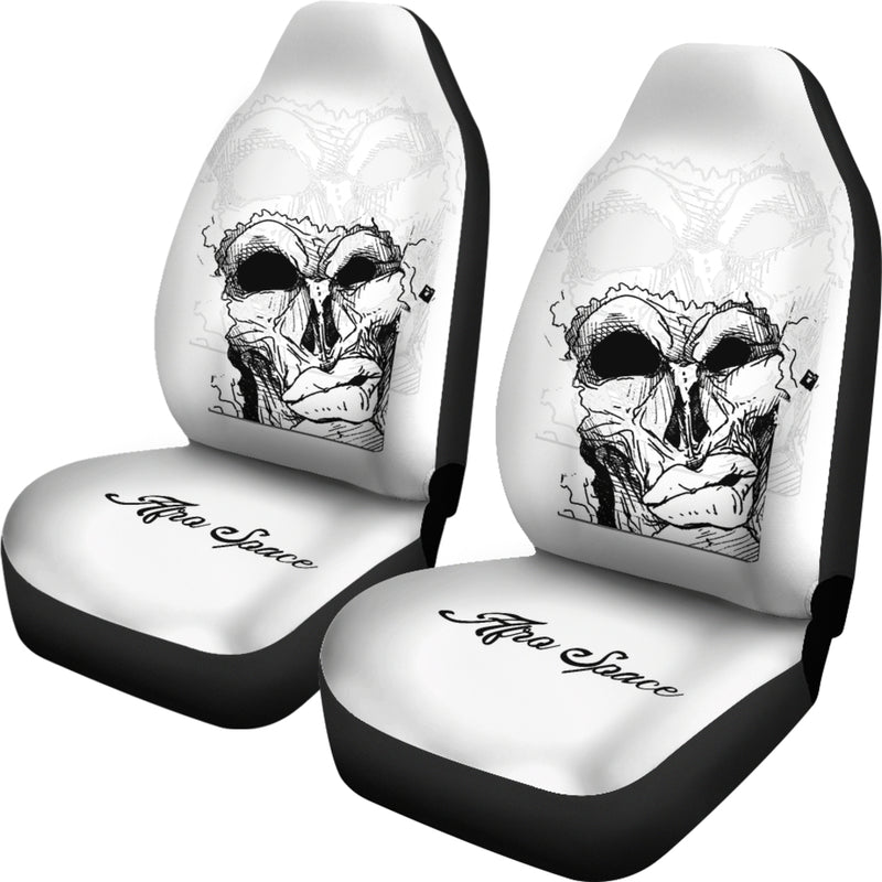 Afro Space Mean Mug Car Seat Covers - Afro Space