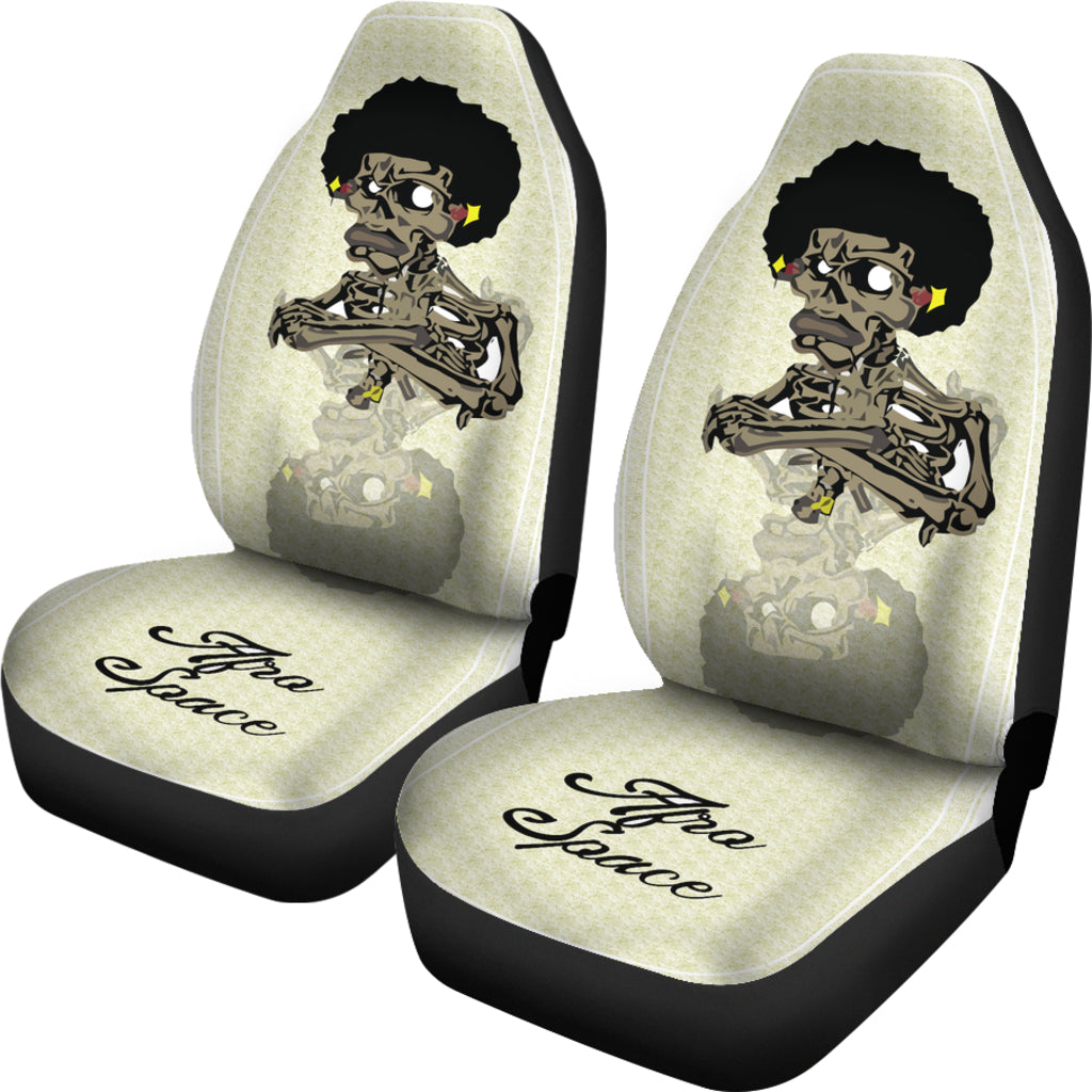 Afro Space Cross Armed Car Seat Covers